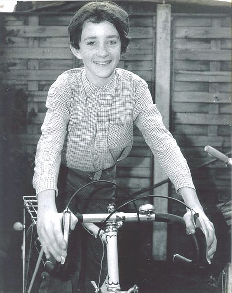 Andrew somewhat younger on his first real cycle