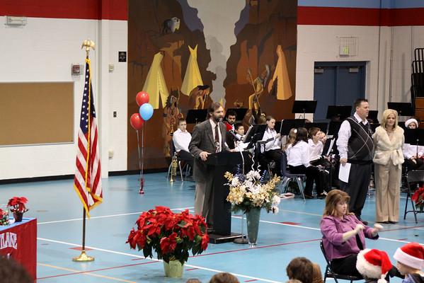 Andy Receiving Principal's 6th Grade Award Dec 17, 2010