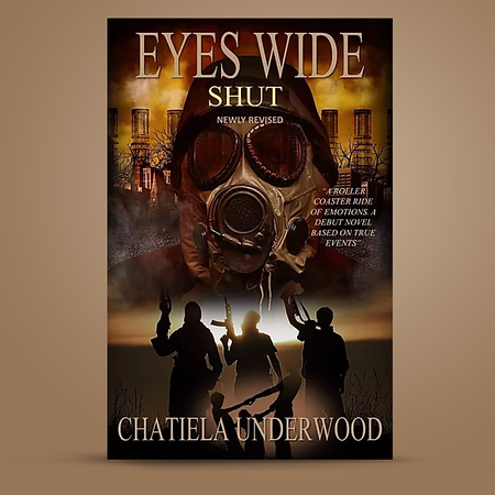 Gas Mask Photo on Book Cover