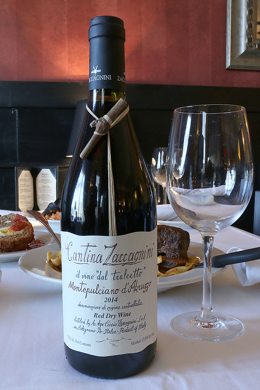 . This is a wine that comes from Bolognano Italy that is served at Angelina\'s Italian Restaurant in Tewksbury. SUN/JOHN LOVE