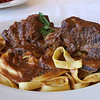 The short ribs are slow simmered in a red wine sauce and served over tagliatelle at Angelina's Italian Restaurant in Tewksbury. SUN/JOHN LOVE