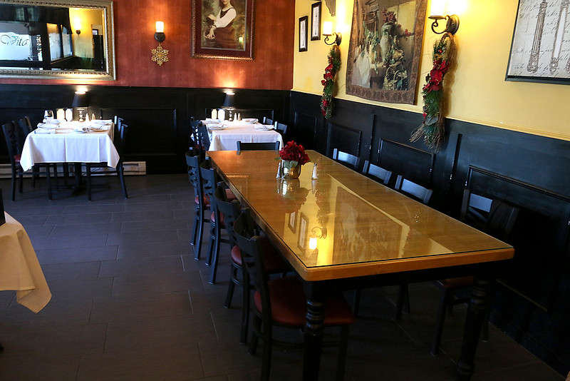 A view of some of the dinning area at Angelina's Italian Restaurant in Tewksbury. SUN/JOHN LOVE