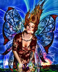 Fairy with Blue and Red wiings