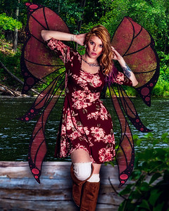 Fairy with Red wings
