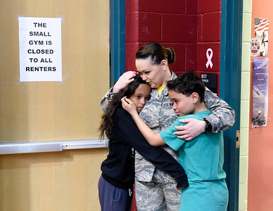 Angevine Middle School 6th Graders Reunited with Military Mom on Deployment
