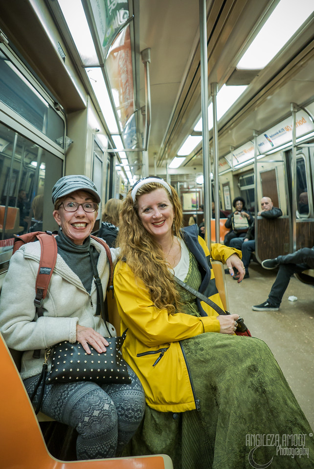 first time on a subway!