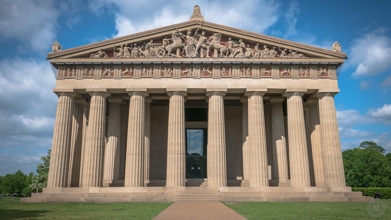 an exact replica of the Parthenon