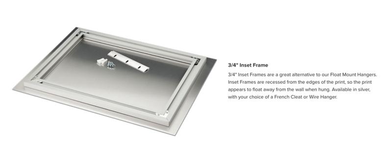 MetalPrint inset frame