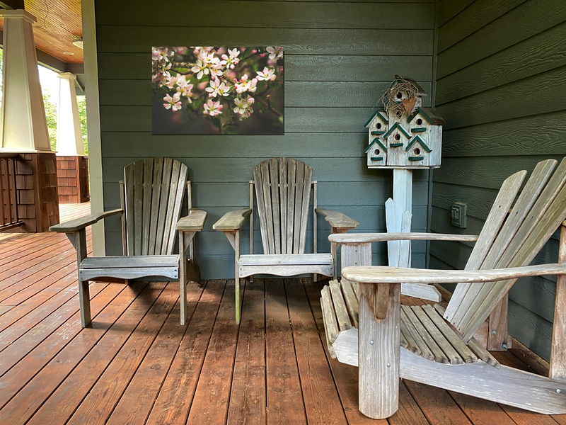 Adding art to your outdoor living spaces is easy with metal prints