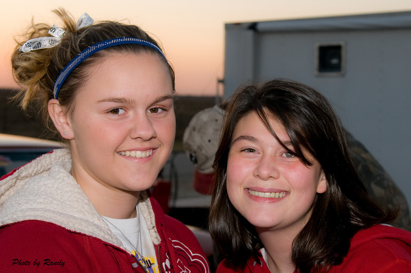 Jr Racers Madison Goss ( left ) and Elizabeth Dodge ( right ).