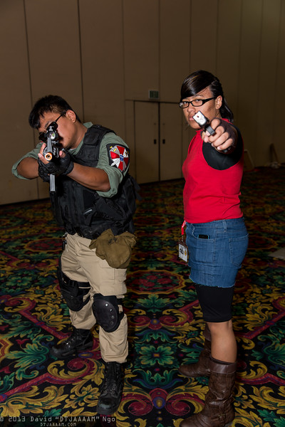 Carlos Oliveira and Claire Redfield