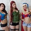 Raver, Poison Ivy, and Supergirl