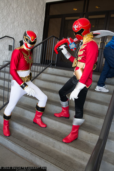 Megaforce Red and Gokai Red