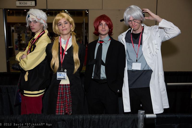 Soul Eater Evans, Maka Albarn, Spirit, and Dr. Franken Stein