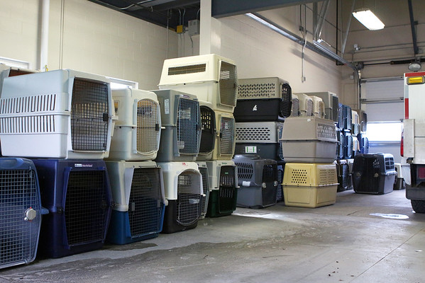 Crates donated to ACCC for evacuated pets