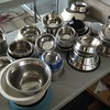 Bowls (many donated) for evacuated pets