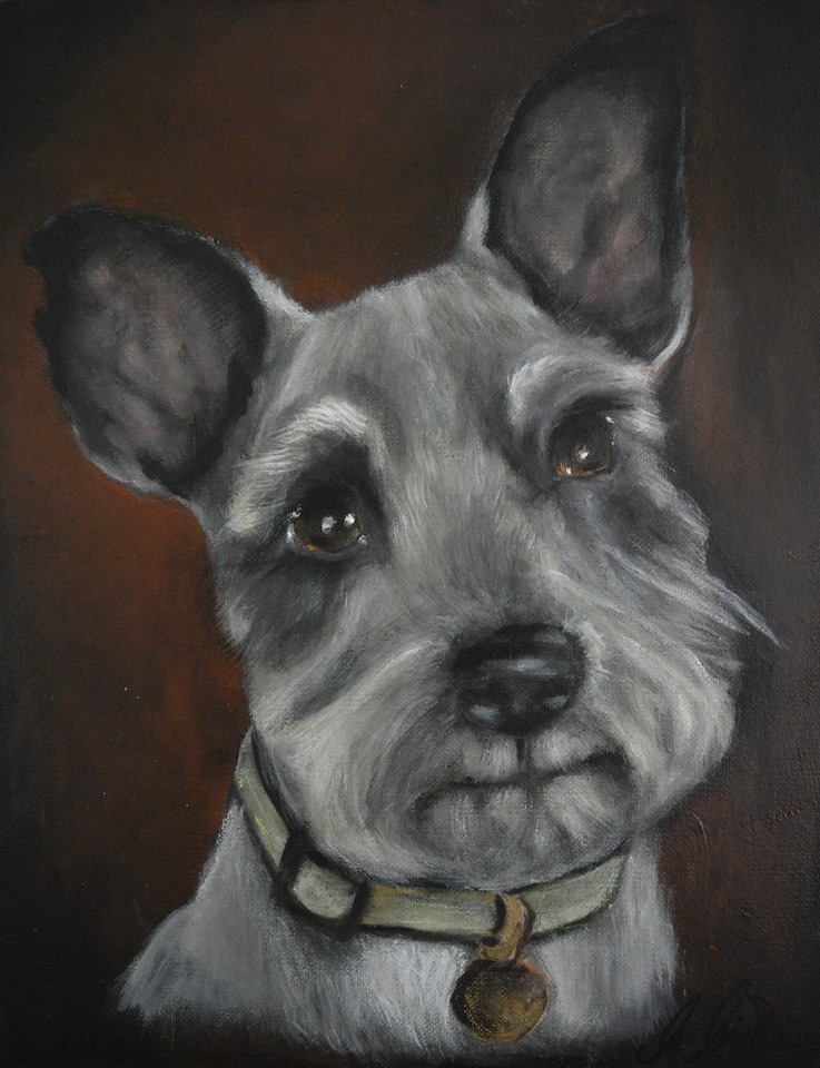 11x14 Acrylic Painting of a female Schnauzer<br /> Not for Sale