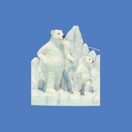 Polar Bear, 3'H  #7057<br /> Polar Bear, 5'H  #7056