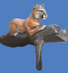 "Panther on Log, 14'6""L #7273"