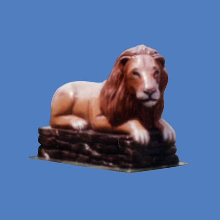 Lion On Stone Base #7078