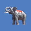 Circus Elephant, 9'H  #7044