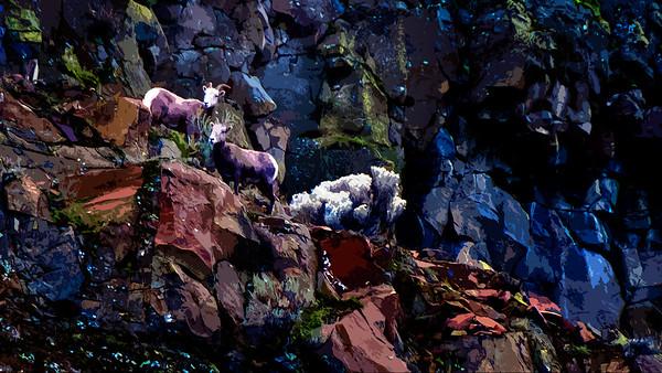 mountain goat cutout