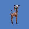 Baby Giraffe Caricature, 6'H #7246