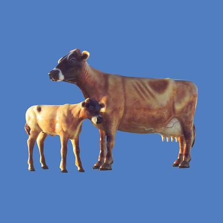 Jersey Cow, 10'H  #7003<br /> Calf, 6'H  #7005