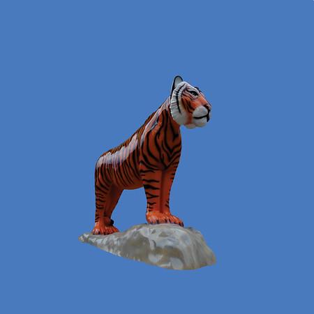 Tiger On Base, life size #7258
