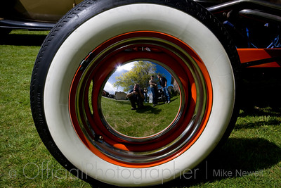 Self portrait or photo of a wheel ...... you decide 8-) Taken at Prebbleton Hot Rod Show, Christchurch.