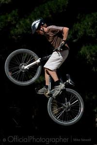 Jump bikers at Bottlelake Forest, Christchurch.