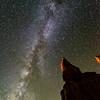 Milky way over hoodoos