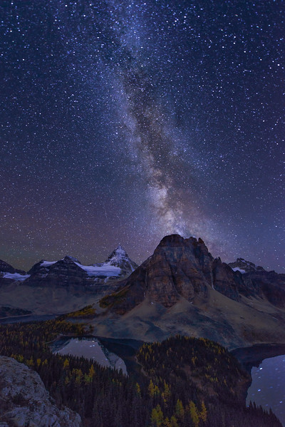 Milky Way over Assiniboine