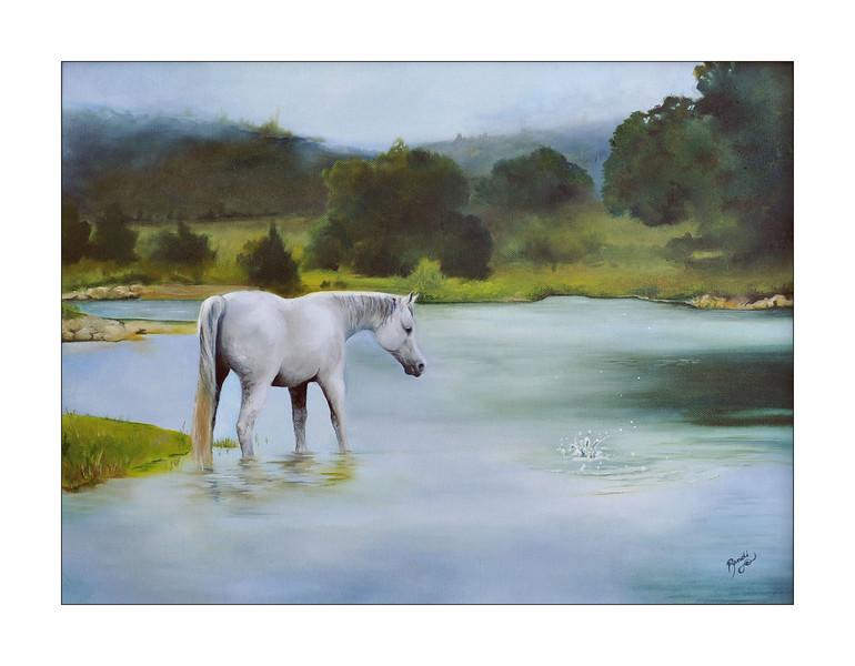 """Wonder"" (oil on canvas) by Randi Evans"