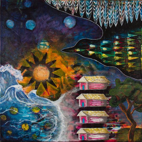 """""""Bird's Eye View"""" (acrylic) by Marnie Blum"""