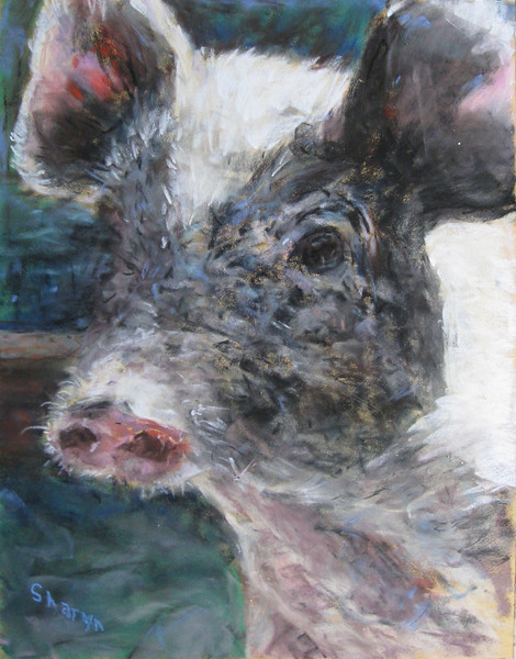 """""""Mud-Caked"""" (soft pastel) by Sharyn Lightfoot"""