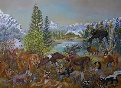 """The Peacable Kingdom"" (acrylics) by Bob Craig"