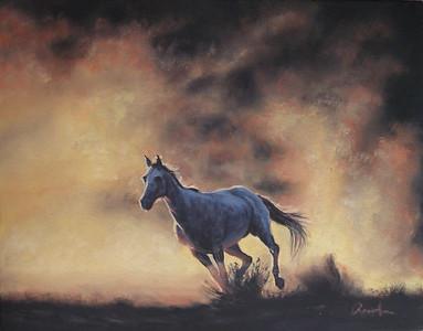 """""""Dusty"""" (oil on canvas) by Rose Ann Bernatovich"""