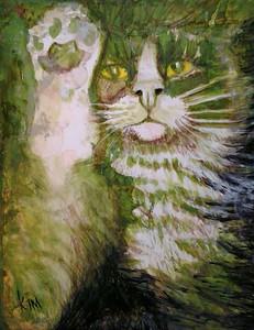 """Maneki Neko Munch"" (inks) by k.i.m. artist"