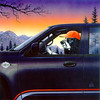 """F150 Truck Dog"" (acrylic) by Don Roth"