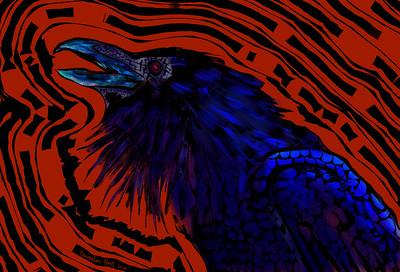 """Danger! Crow!"" (digital art) by November Hart"