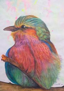 """""""Fluffy Bird"""" (watercolor) by Cynthia Castillo"""