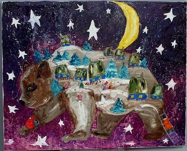 """Ukrainian carol "" (oil on canvas) by Odarka Dema-Pisna"