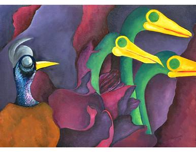 """""""The Followers"""" (canvas, oil paint) by Ruknuddin Ahmad"""