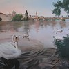 """The Swans"" (oil on canvas) by Olga Kozulenko"