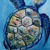 """Turtle"" (oil on canvas) by Alla Oksova"