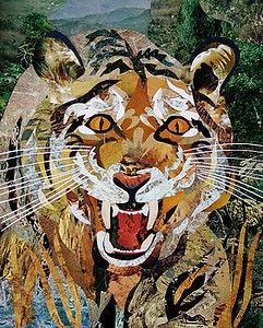 """Paper Tiger"" (collage) Bob Craig"