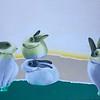"""My Rabbits"" (acrylic on canvas) by Shabnam Mottaghi"