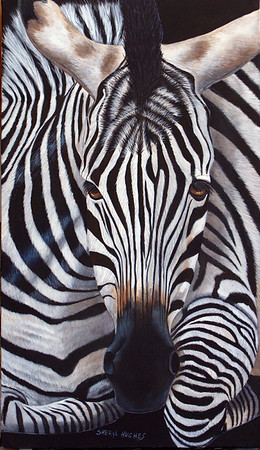 """Zendra"" (acrylic on canvas) by Sheryl Hughes"