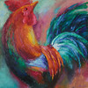 """Cock"" (oil on canvas) by Galina Khandova"